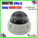 Support Muti Language OSD Menue CCTV Camera Home Alarm Systems Security Camera 30pcs IR Led Dome Camera