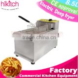 commercial electric deep fryer equipment for fast food restaurant donuts fryer snack bar cooker