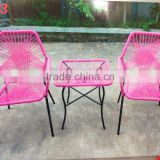 2015 Leisure Outdoor Acapulco Chair, Fashional Acapulco Chair, Steel frame with plastic rope Acapulco Chair