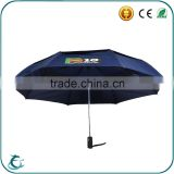 3 folding automatic 2 layer fabric windproof gift advertising rain umbrella for promotion