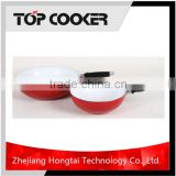Aluminum pressed white ceramic coating korean electric wok