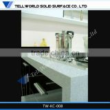 2014 modern small beautiful luxury artificial marble kitchen worktops