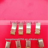 lock clasp for bracelets,brass leather bracelet clip,high quality metal spring lock clasp