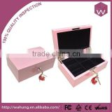 Hot-Selling Wooden Jewelry Holder Box& Mini Wood Treasure Chest Jewel Box