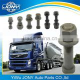 color zinc plated 10.9 bolts for VOLVO HINO M22 truck wheel bolt                                                                         Quality Choice