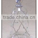 Decorative Clear and Diamond Glass Bell with Sliver Top