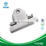 office&school stationary eco-friendly metal checker surface jumbo clip/butterfly clip for file folder