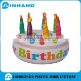 customised advertising pvc inflatable baby birthday hat promotional gift, advertising inflatable toy