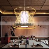 bamboo Hot Selling Wholesale wood color cage pendant Lamp Modern Pendant Light in dining room