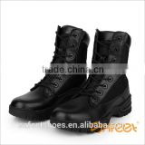 Made in China man's high ankle military ankle boots and black patent leather military boots and military boot shoes (SA-8314)