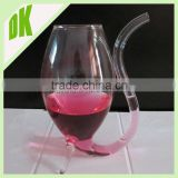 Vampire shape glass decanter with lid // 200ml glass material wholesale made in china glassware vampire short stem wine glass