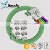 straight R/A 2 rows JST XH 4.2 cable connector 2 - 24 pin