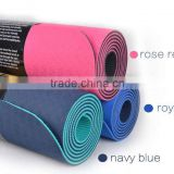 4mm TPE eco friendly anti slip yoga mat with carry strap easy washable sport mat manufacturer
