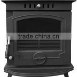 667 cast iron wood burning heat stove with boiler, radiator