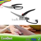 Multifunction Strong stainless steel Poultry chicken bone scissor shears serrated kitchen