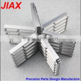 cnc machined aluminum radiator heat sink parts with small order by drawing
