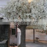 Factory price hot sale fiberglass white cherry blossom tree artificial huge tree