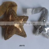 Gold and silver Star shaped Glass beads Christmas tree ornament available in all colours and sizes