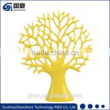 Yellow artificial christmas tree