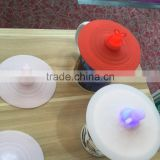 NEW product LED shining silica gel bottle lid for festival