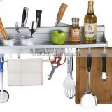 The new space aluminum knife rack biscalix 60cm multifunctional kitchen storage rack Spoon scoop chopsticks holder