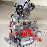Low Noise 255mm 1800w Induction Motor Wood/Aluminum Cutting Cut Off Miter Saw Machine Mini Portable Power Electric Saw