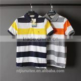 T Shirt Cotton Yarn Dyed Shirt , Polo Shirts Customized Logo ,Short Sleeve Yarn Dye Polo Shirt