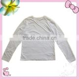Apparel Stocklots Kids Blank T-shirt color white wholesale
