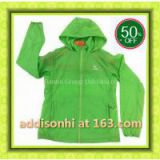 High quality outdoor Nylon PU long raincoat for Men or ladies
