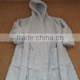 MINI MODE boys hooded bath robe or dressing gown -18-24 months