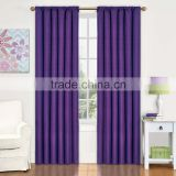 The Latest Polyester Embroidered Solid Solor Curtain for Home and Hotel with Factory Price
