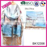 2015 Ladies Shawl High Quality With Fringes Wholesale 100% Silk Scarves Shawl