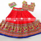 Traditional RED chaniya choli with embroidery work- gujarati Chaniya cholI-