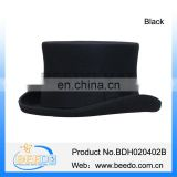100% wool felt top hat with 10 cm height
