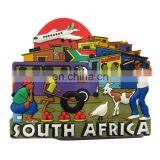 rubber souvenir south africa cities fridge magnet