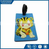Wholesale factory custom printed genuine leather luggage tag