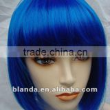 2016 China Doll -Dark Blue Short Synthetic Wig; human hair wigs                                                                         Quality Choice