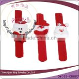 red wholesale slap christmas bracelet for child and adult                                                                         Quality Choice