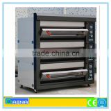 3 deck bakery oven, deck oven with steam, industrial gas oven for baking