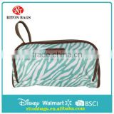 Lady's Personalized Cosmetic Bag Wholesale PU Clear Cosmetic Bag with Delicate Colors
