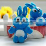 Plush 12cm Blue Rabbit Keychain/Soft Stuffed 12cm Height Blue Big Eyes bunny Keychain/Simling Bunny Soft Animal Keychain