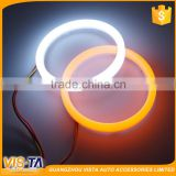 Top quality best sale Double Color Amber White car led angel eyes headlights halo ring with turning light