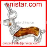Wholesale Vnistar gold mental big dog pendant charm for DIY necklace bracelets size about 30mm TC033