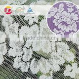 wholesale beautiful 100 poly flower lace embroidered fabric white lace knee length dress