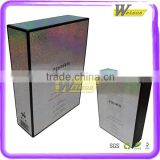 Wholesales custom cardboard colorful gift packing box with light silver film cover for cosmetic