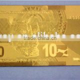 Gold foil 24k gold banknotes gift and craft souvenir banknotes