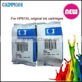 Hot sale Original Ink Cartridge for HP 61xl genuine color ink cartridge for hp ch561w 61