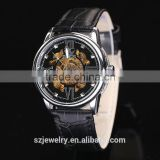 Wholesale Original Factory Leather Band Luxury Skeleton Custom Watch In Alibaba Mechanical Watch