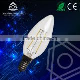 2W C35 Edsion design E14 LED filament candle chandelier bulb light glass E14 candle light C35