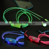 High quality glowing LED earphone / EL light up earphone